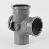 110mm Soil Pipe - Double Socket Access Branch 92½* Black