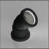 40mm Black Polypropylene 135° Bend Push-Fit