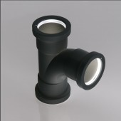 40mm Black Polypropylene Tee Push-Fit